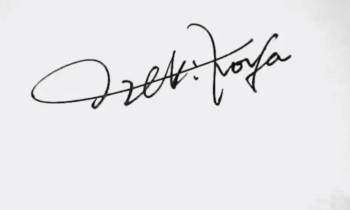 サインの書き方と作成見本